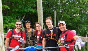 From left to right: Nate Thomas (UNE 2017), Sam Roh (UConn 2020), Alexandra Carroll (UConn 2019), Ryane Staples (UConn 2020), Luis Perez (Boston University 2018)