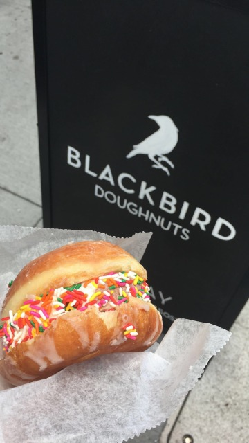 The doughnut ice cream sandwich from Blackbird Doughnuts!