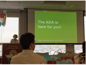 Former ADA District One Trustee, Dr. Judi Fisch, provides a brief overview of the ADA mission and shares with the audience a moving anecdote of her personal journey to dentistry.